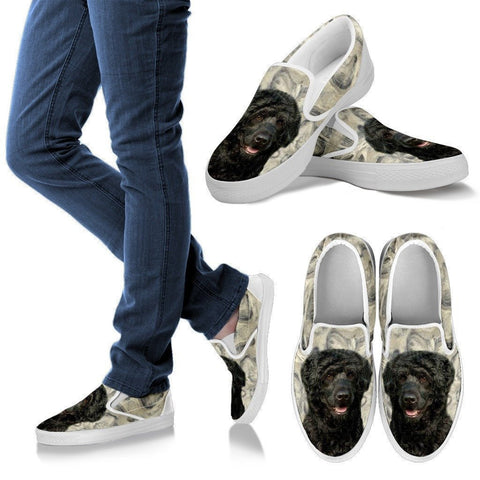 Portuguese Water Dog Print Slip Ons For Women-Express Shipping