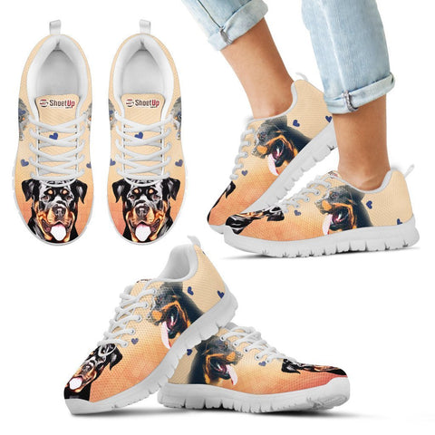 Amazing Rottweiler Print Running Shoes For Kids- Free Shipping