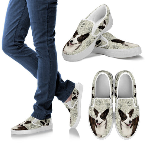 Valentine's Day Special-Cardigan Welsh Corgi Print Slip Ons For Women-Free Shipping