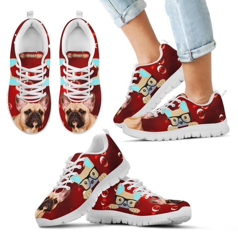 French Bulldog Print-Kid's Running Shoes-Free Shipping