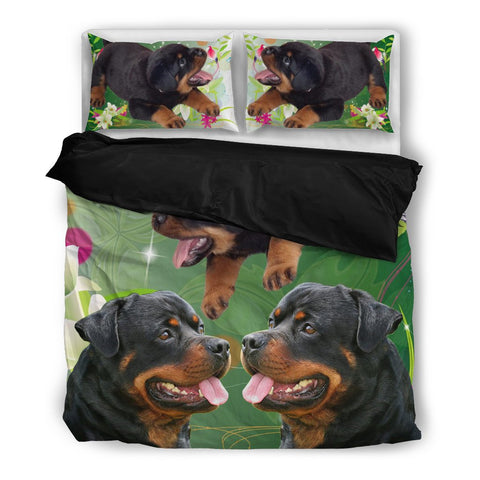 Rottweiler Print Bedding Set-Free Shipping