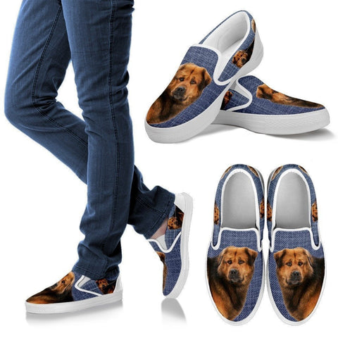 Tibetan Mastiff Dog Print Slip Ons For Women-Express Shipping