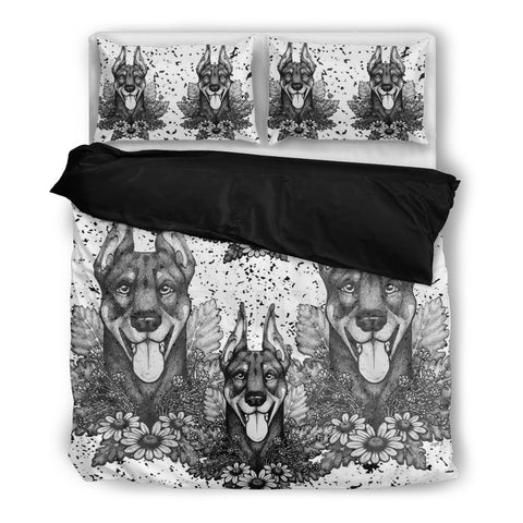 Amazing Doberman Pinscher Print Bedding Set- Free Shipping