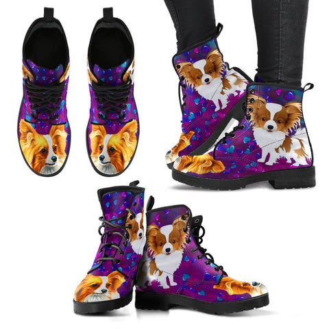 Valentine's Day Special-Papillon Dog Print Boots For Women-Free Shipping