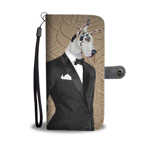 Great Dane Dog Print Wallet Case-Free Shipping