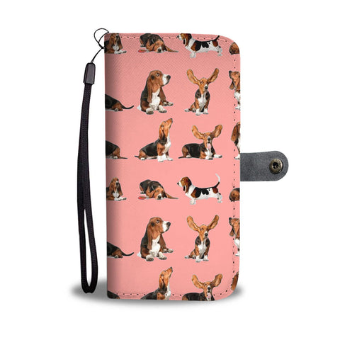 Basset Hound Dog 2nd Pattern Print Wallet Case-Free Shipping