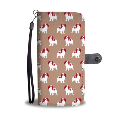 Caveliar King Charles Spaniel Dog 2nd Pattern Print Wallet Case-Free Shipping