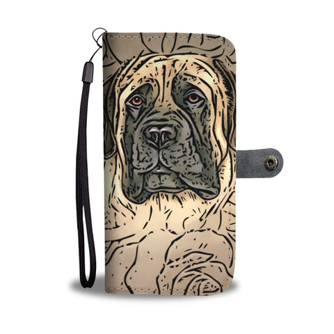 English Mastiff Dog Print Wallet Case-Free Shipping