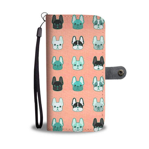 French Bulldog Different Faces Print Wallet Case-Free Shipping