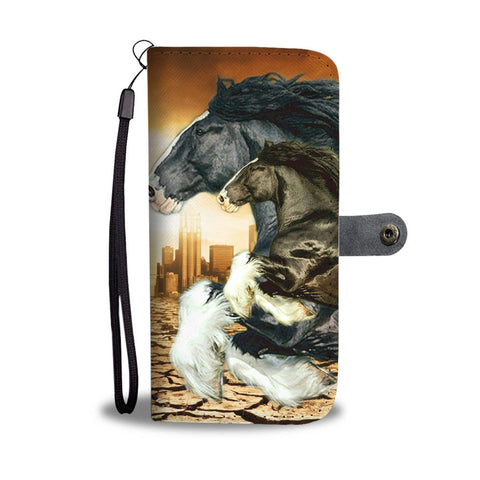 Shire Horse Print Wallet Case- Free Shipping