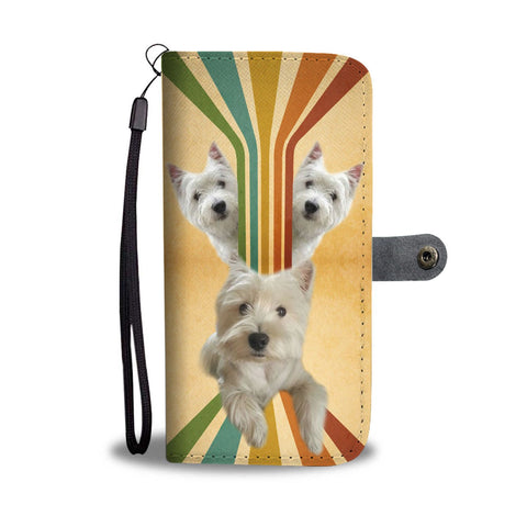 Cute West Highland White Terrier ( Westie ) Dog Print Wallet Case-Free Shipping