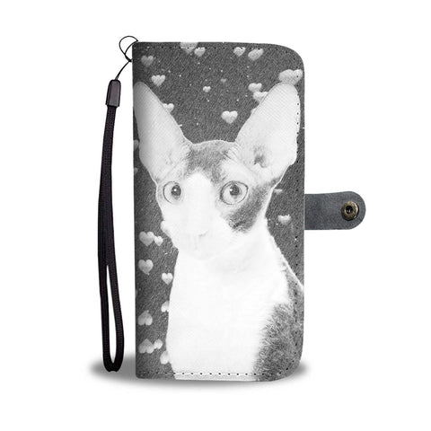 Cornish Rex Cat Print Wallet Case-Free Shipping