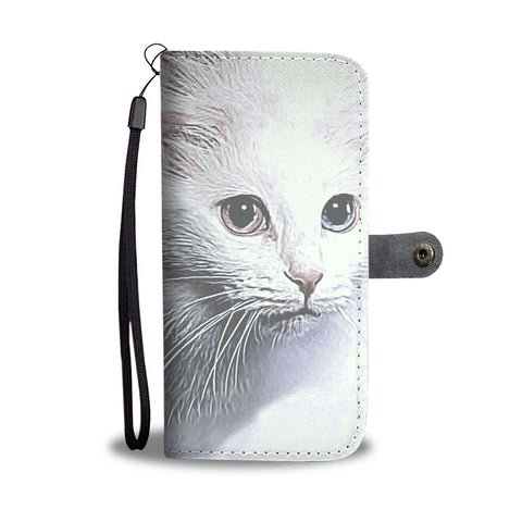 Turkish Angora Cat Print Wallet Case-Free Shipping