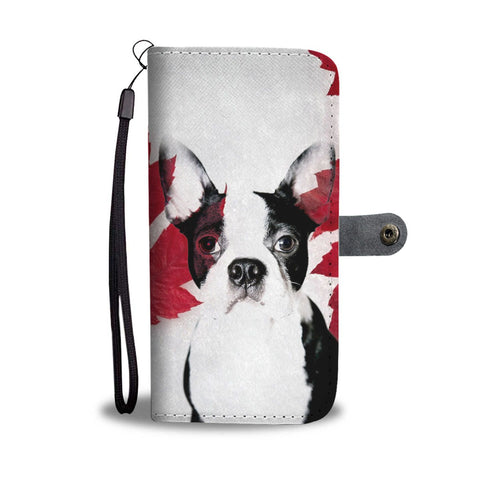 Cute Boston Terrier Print Wallet Case-Free Shipping