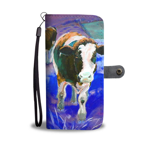 Holstein Friesian Cattle (Cow) Print Wallet Case-Free Shipping