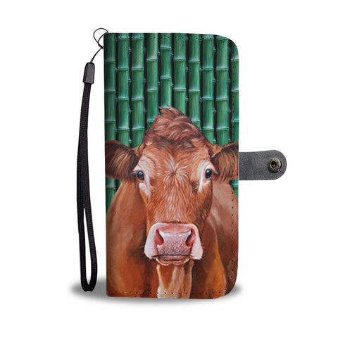 Lovely Limousin Cattle (Cow) Print Wallet Case-Free Shipping