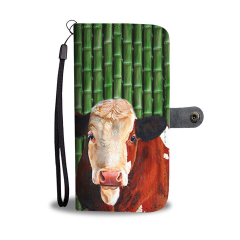 Lovely Simmental Cattle Print Wallet Case-Free Shipping