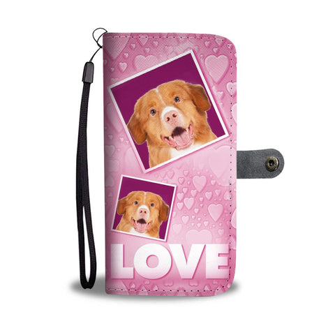 Nova Scotia Duck Tolling Retriever with Love Print Wallet Case-Free Shipping