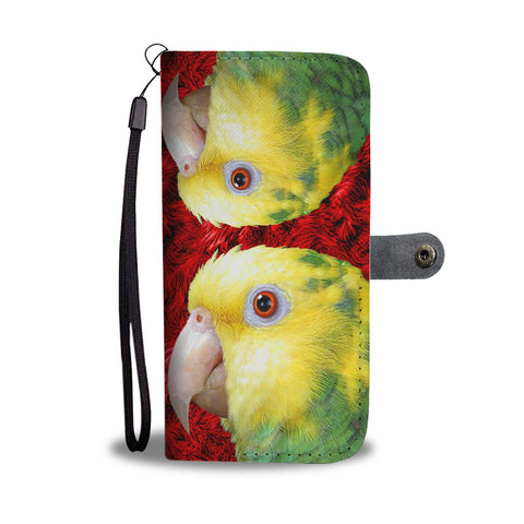 Amazon Parrot Print Wallet Case-Free Shipping