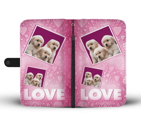 Cute Labrador retriever puppies with Love Print Wallet Case-Free Shipping