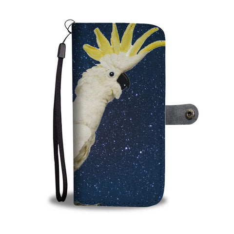 Lovely Cockatoo Parrot Print Wallet Case-Free Shipping