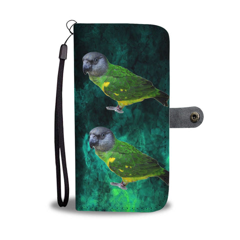 Lovely Senegal Parrot Print Wallet Case-Free Shipping