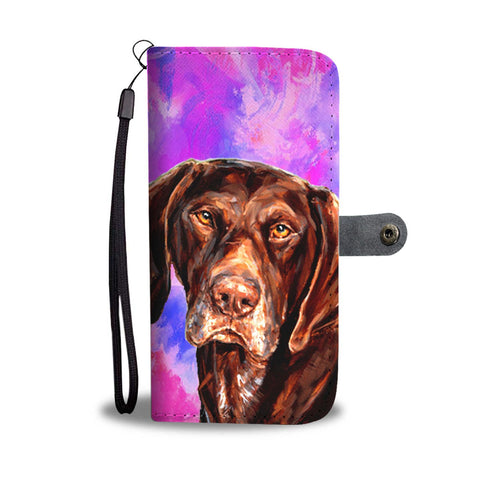 German Shorthaired Pointer Dog Print Wallet Case-Free Shipping