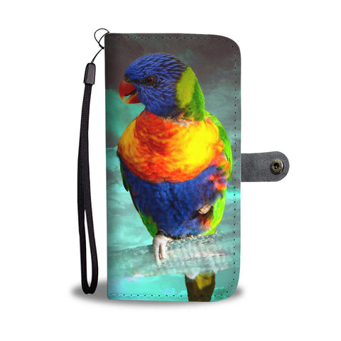 Lories And Lorikeets Parrot Print Wallet Case-Free Shipping