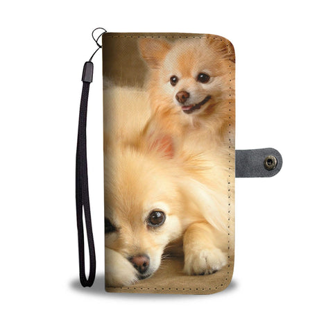 Cute Pomeranian Dog Print Wallet Case- Free Shipping