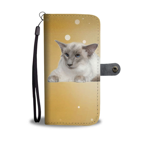 Balinese Cat Print Wallet Case-Free Shipping