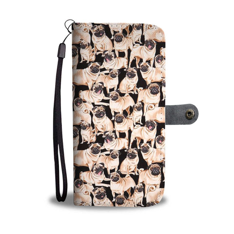 Pug Dog Pattern Print Wallet Case-Free Shipping