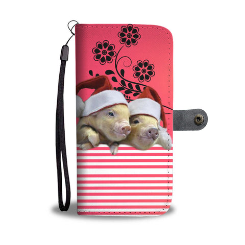 Cute Miniature pig Print Wallet Case-Free Shipping
