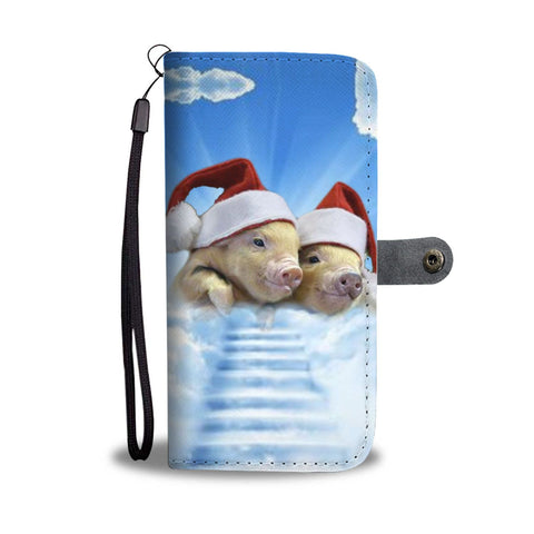 Cute Miniature pig2 Print Wallet Case-Free Shipping