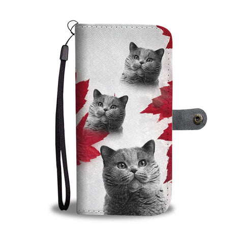 Cute British Shorthair Print Wallet Case- Free Shipping