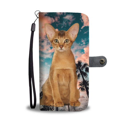 Cute Abyssinian Cat Print Wallet Case- Free Shipping