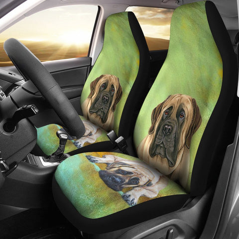 English Mastiff Dog Print Car Seat Covers- Free Shipping