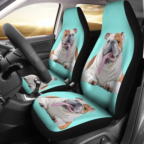 Bulldog Print Car Seat Covers- Free Shipping
