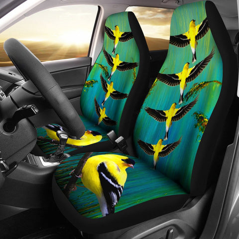 American Goldfinch Bird Print Car Seat Covers-Free Shipping