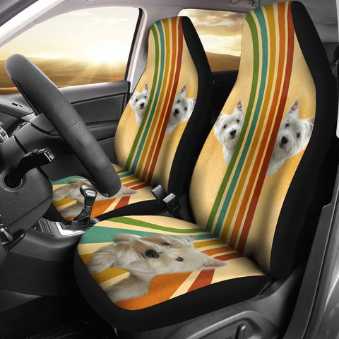 West Highland White Terrier (Westie) Print Car Seat Covers- Free Shipping