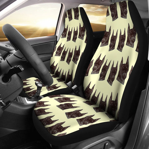 Doberman Pinscher Dog Pattern Print Car Seat Covers-Free Shipping