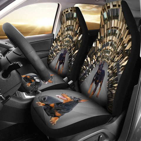 Amazing Doberman Pinscher Print Car Seat Covers- Free Shipping