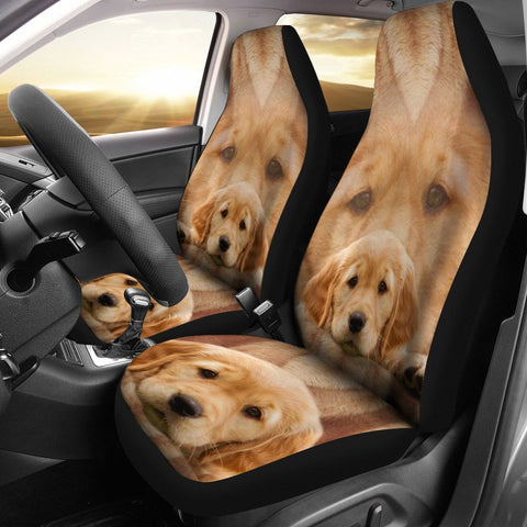 The Cutest Golden Retriever Print Car Seat Covers-Free Shipping