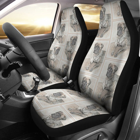 English Mastiff Dog Print Car Seat Covers-Free Shipping