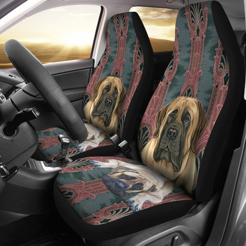 Cute English Mastiff  Print Car Seat Covers- Free Shipping