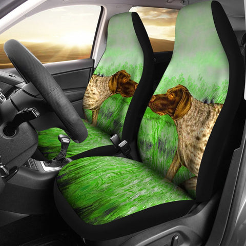 German Shorthaired (Pointer) Dog Print Car Seat Covers-Free Shipping