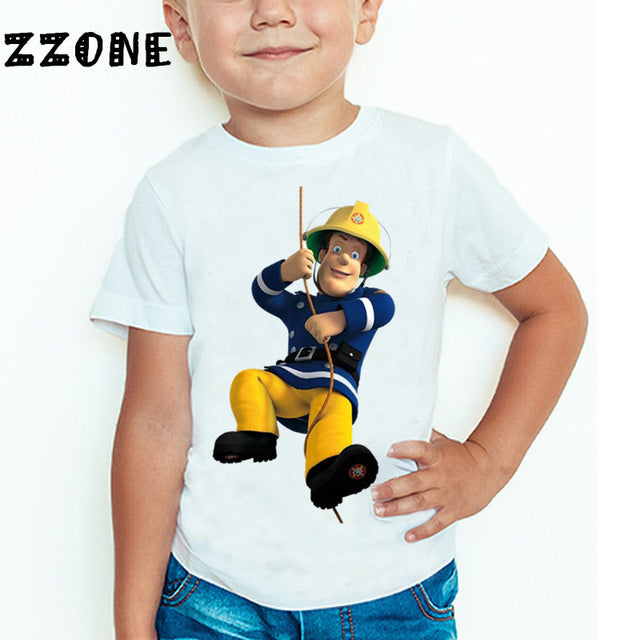 b101bfaf7c347 Mbn Baby - Cartoon Fireman Sam Printed T shirt – MbnBaby
