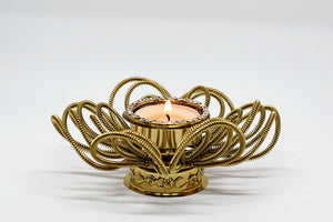 Vintage India Flower Tealight