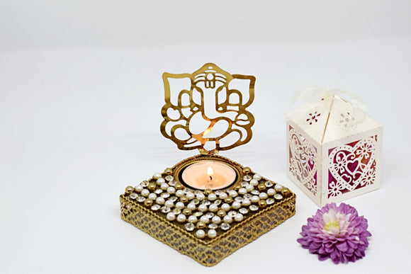 Lord Ganesh Silhouette Tealight (Diamond)