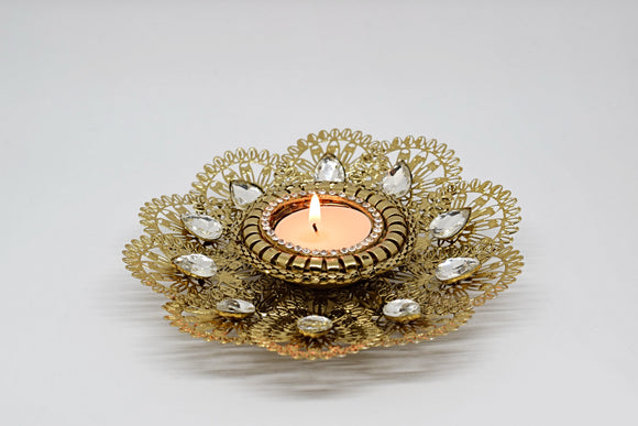 Flower Jali Tealight