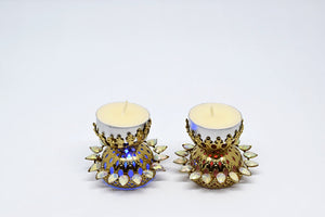 Flashing Light Diya (Set of 2)